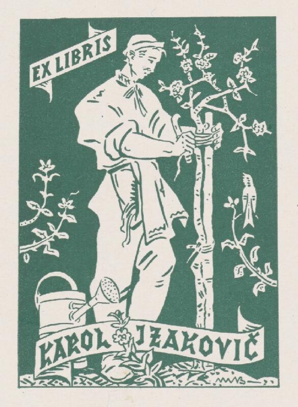 Martin Benka - Ex libris Karol Izakovič