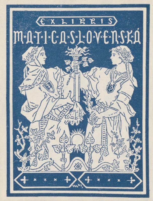 Martin Benka - Ex libris Matica Slovenská