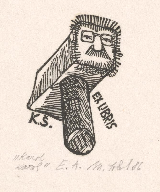 Milan Sokol - Ex libris K.Š. Karol, Karol