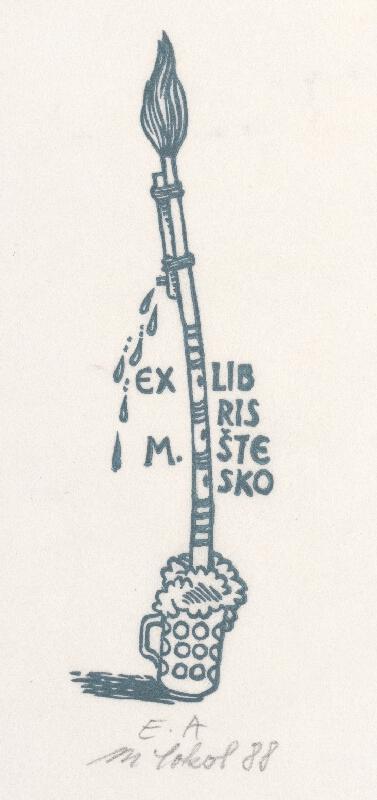 Milan Sokol - Ex libris M.Štesko