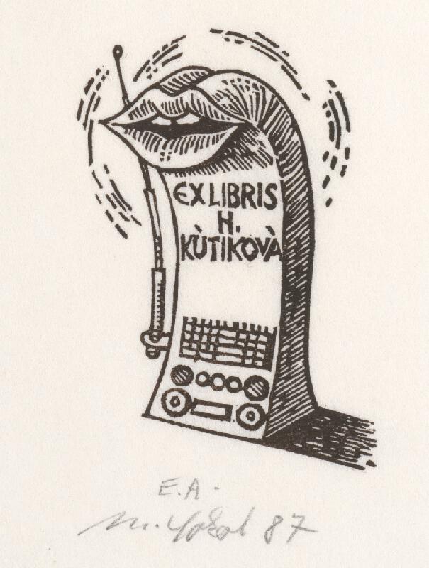 Milan Sokol - Ex libris H.Kútiková