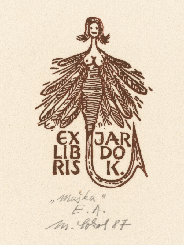 Milan Sokol - Ex libris J.Kubička