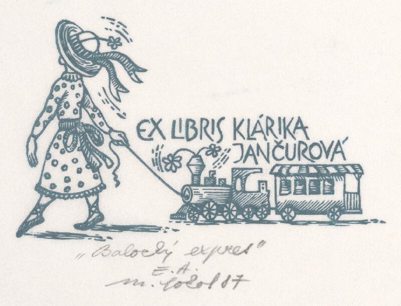 Milan Sokol - Ex libris K.Jančurová