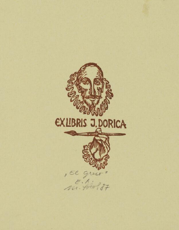 Milan Sokol - Ex libris J.Dorica - El Greco
