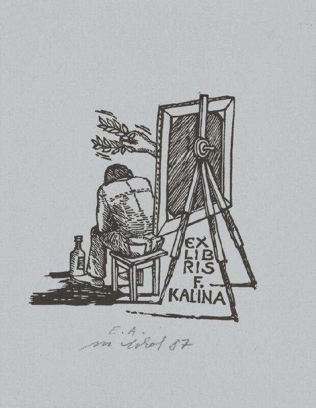 Milan Sokol - Ex libris F.Kalina