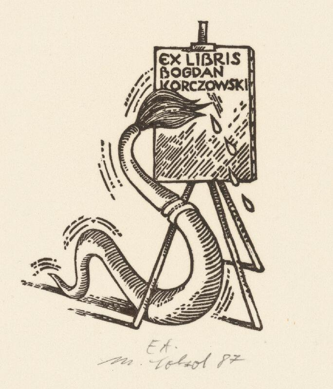 Milan Sokol - Ex libris Korszowski