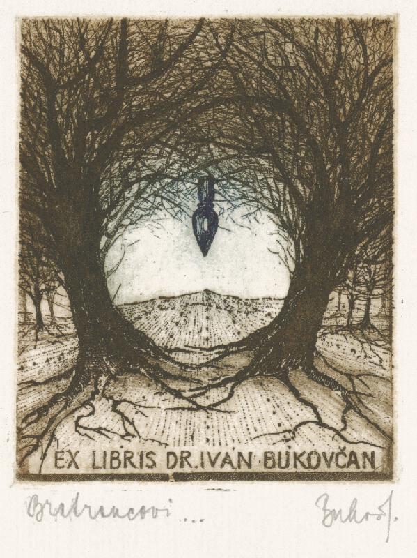 Júlia Buková - Ex libris dr. Ivan Bukovčan