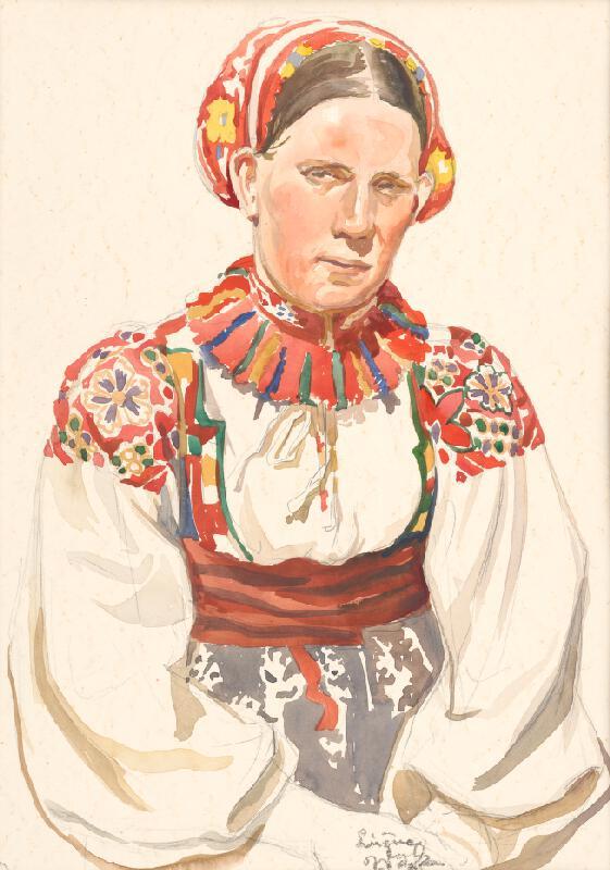 Jaroslav Vodrážka - Lúžna - Žena v kroji