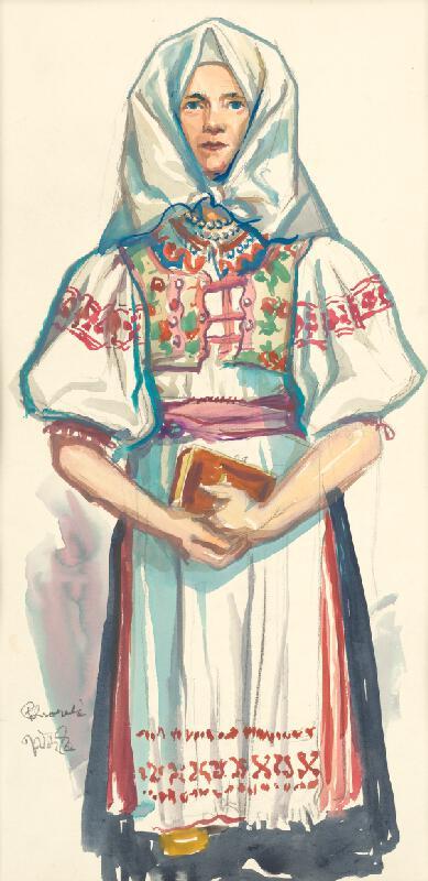 Jaroslav Vodrážka - Žena s knižkou - Pohorelá
