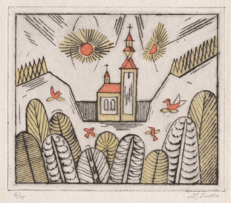 Ľudovít Fulla - Kostolík v údolí