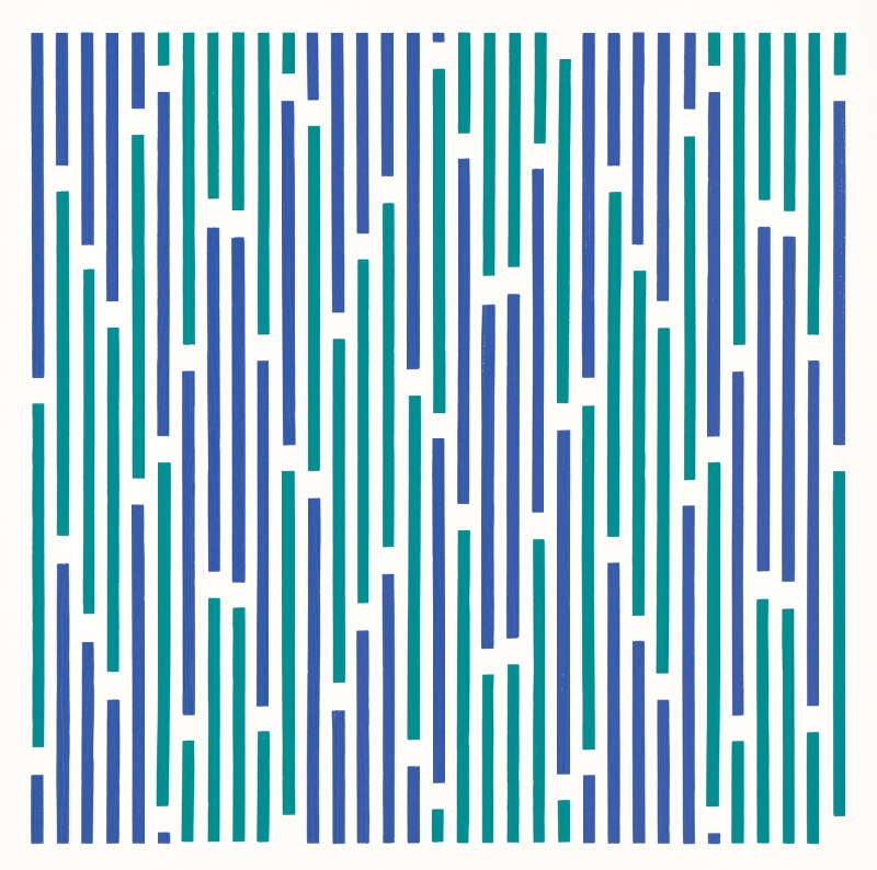 Horst Bartnig - 72 prerušení 72 čiar v 2 farbách
