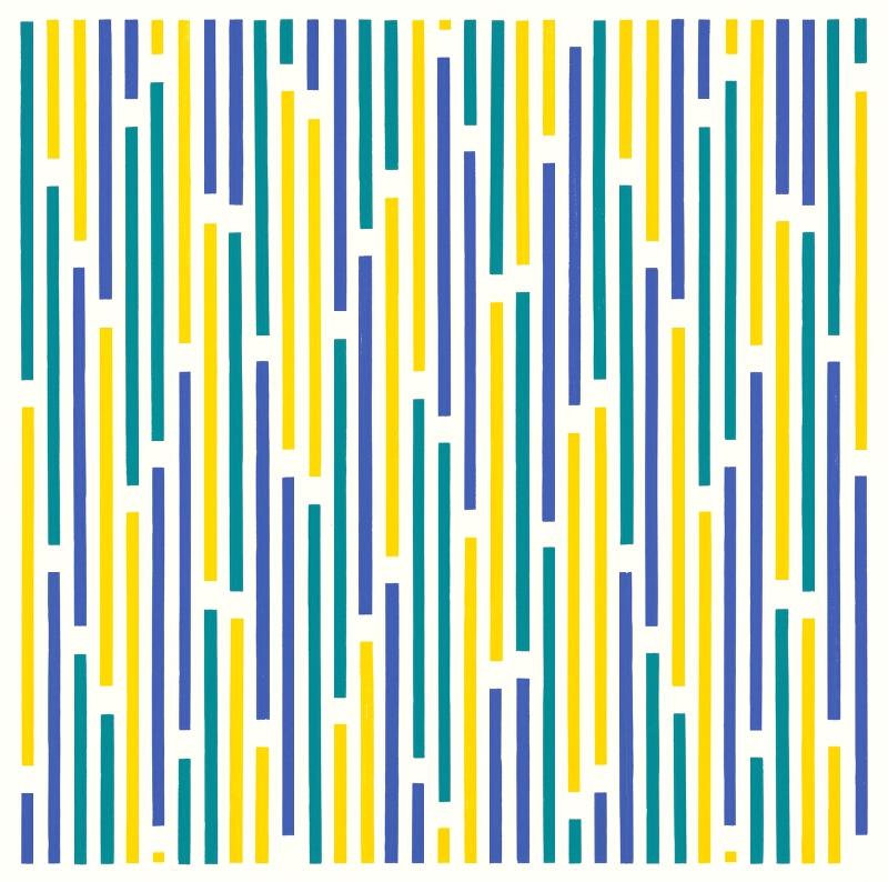 Horst Bartnig – 72 prerušení 72 čiar v 3 farbách, 1995, Stredoslovenská galéria