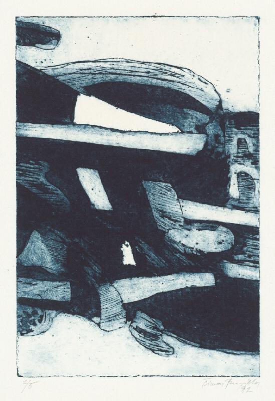Šimon Brejcha - Modrá kompozícia