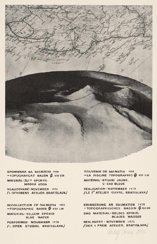 Rudolf Sikora - Spomienka na Dalmáciu 1970 - Topografický bazén  450