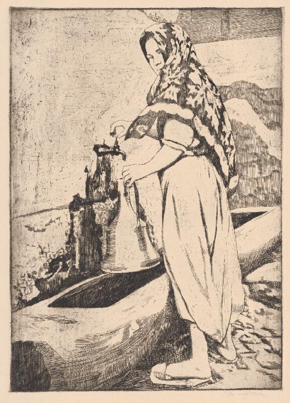 Viktor Hermély - Turecká žena pri studni