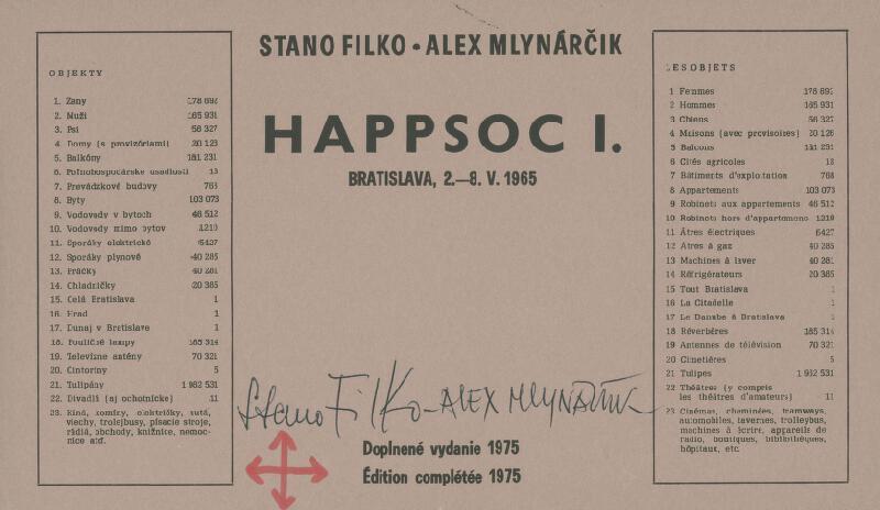 Stanislav Filko, Alex Mlynárčik - Happsoc I., Bratislava, 2.–8. V. 1965 (Doplnené vydanie 1975)
