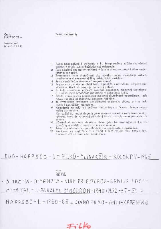 Stanislav Filko - I. Happsoc (časť názvu)