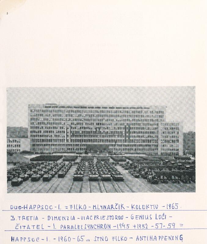 Stanislav Filko - HAPPSOC – 1. – 1960-65 – ... STANO FILKO - ANTIHAPPENING (časť názvu)