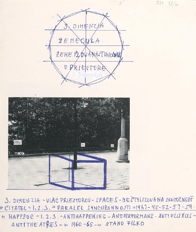 Stanislav Filko - HAPPSOC – 1. 2. 3. – ANTIHAPPENING – ANTIPERFORMANS – ANTIFLUXUS – ANTITHEATRES – ... 1960-65 – ...STANO FILKO (časť názvu)