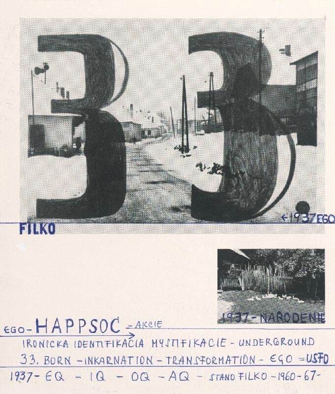Stanislav Filko - 1960-64 – HAPPSOC – I. STANO FILKO – ANTIHAPPENING / EGO – HAPPSOC – AKCIE (časť názvu)