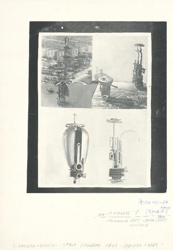 Stanislav Filko - 1959 – VO FARBACH 7. SHAKRAS ENERGII, VYHLIADKOVE VEŽE – MRAKODRAPY, INŠTALACIA