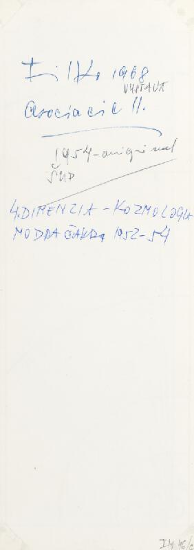 Stanislav Filko - Asociacie II., 4. DIMENZIA – KOZMOLOGIA – MODRA ČAKRA 1952-54