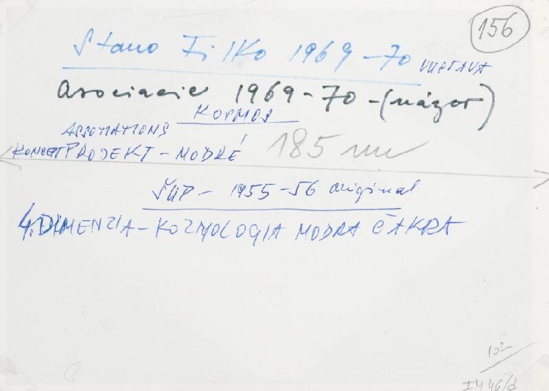 Stanislav Filko – Asociacie 1969-70 – KOSMOS – ASSOTIATIONS – KONCEPT PROJEKT – MODRÉ