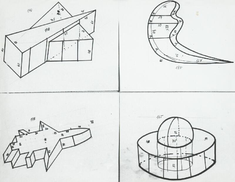 Stanislav Filko - Lavice sochy – objekt – MODRÉ