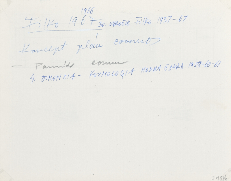 Stanislav Filko - Koncept plán Cosmos – Pomník Cosmu  (časť názvu)