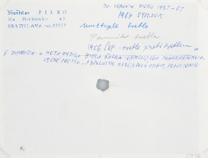 Stanislav Filko - Multiple svetlo – Pomník svetla