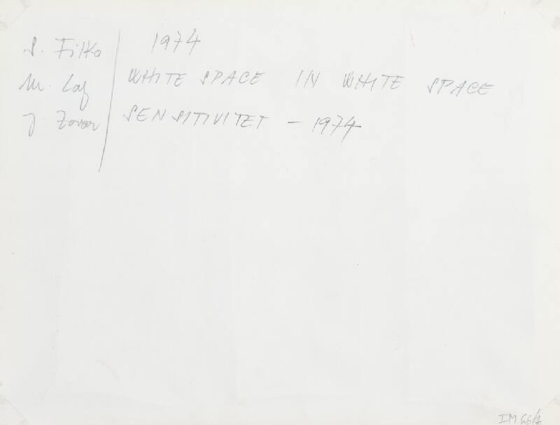Stanislav Filko, Miloš Laky, Ján Zavarský – WHITE SPACE IN WHITE SPACE – SENSITIVITET