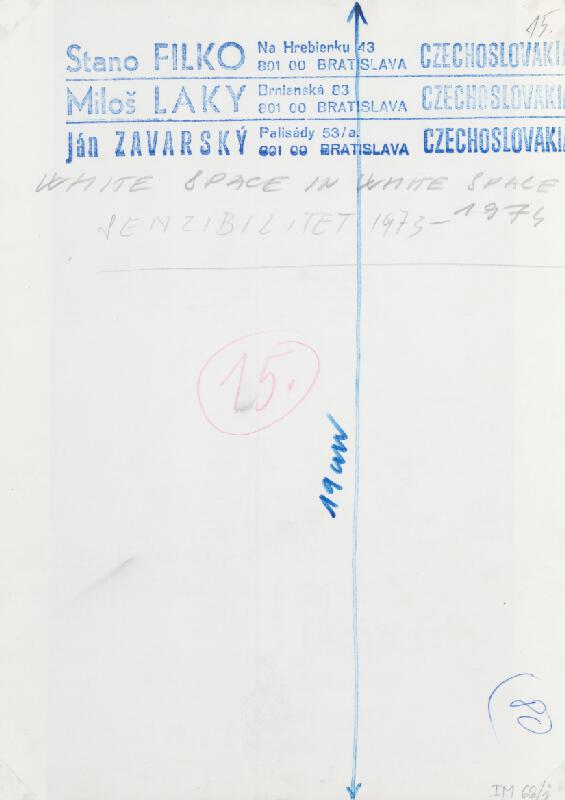 Stanislav Filko, Miloš Laky, Ján Zavarský - WHITE SPACE IN WHITE SPACE – SENZIBILITET