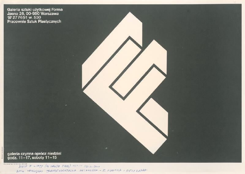 Stanislav Filko - Biele F – 1977 (40 výročie Filka) (časť názvu, plagát Galéria Forma, Varšava)