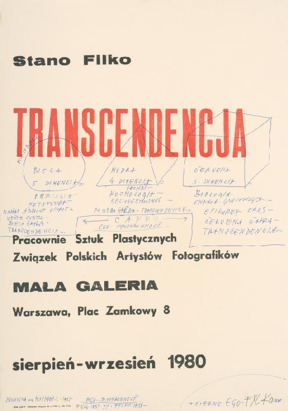 Stanislav Filko - SPOMIENKA na HAPPSOC – I. 1965 + ČIERNE EGO – FYLKO 1980 (časť názvu
