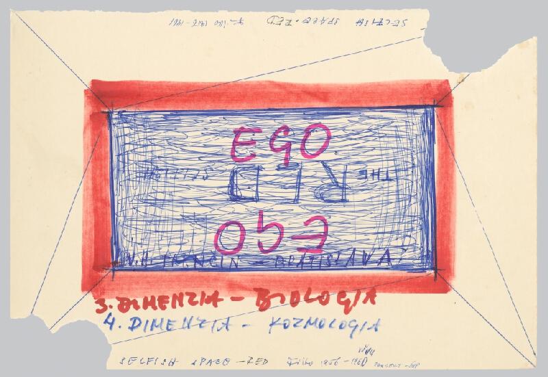 Stanislav Filko - EGO – V.H. – TRENČÍN – BRATISLAVA / EGO – THE RED SELFISH SPACE  – RED  (časť názvu)