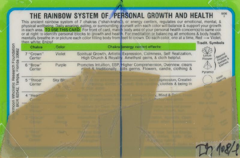 Stanislav Filko - Bez uvedenia názvu (THE RAINBOW SYSTEM OF PERSONAL GROWTH AND HEALTH)