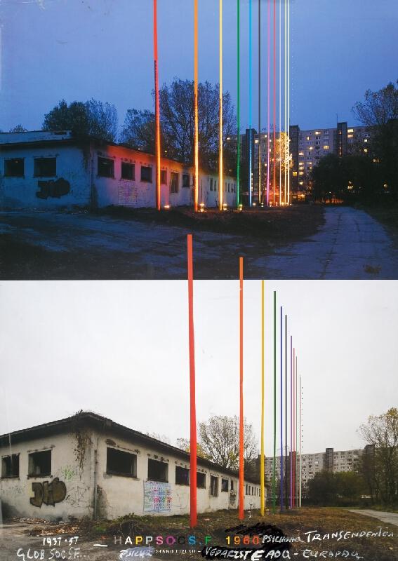 Stanislav Filko - RETROOQS.F. (plagátový projeketart k projektu 12 farieb skutočnosti – RETRQ = HAPPSOCSF,  Bratislava, Petržalka)