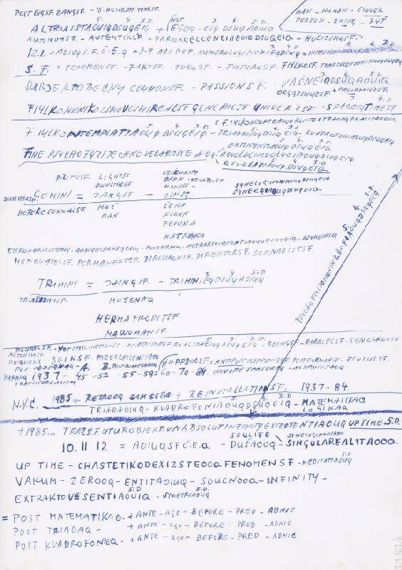 Stanislav Filko - Bez uvedenia názvu (RETROS.F.INSTALATI – ALTRUISTRIADADSEI – METODIKADSEIQ – KUADROFONIADSEI)