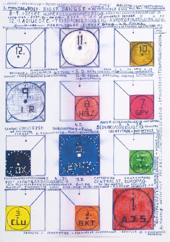 Stanislav Filko - Bez uvedenia názvu (návrh na realizovanú monumentál. plexi inštaláciu v systéme farieb)