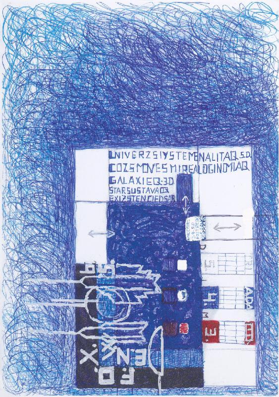 Stanislav Filko - Bez uvedenia názvu (UNIVERZSIYSTEMENALITAQ – COZSMOVESMIREALOGINOMIAQ – GALAXIEQ – 3.D. – STARSUSTAVAOQ – EXIZSTENCIEDSAR)