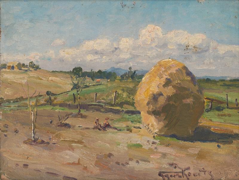František Gyurkovits – Krajina pri Lučenci, 1955–1956, Stredoslovenská galéria