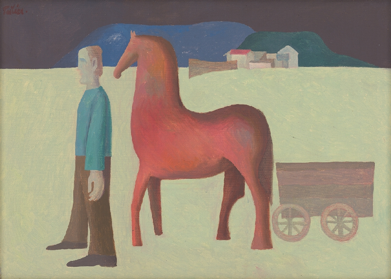Milan Paštéka - Krajina s koňom