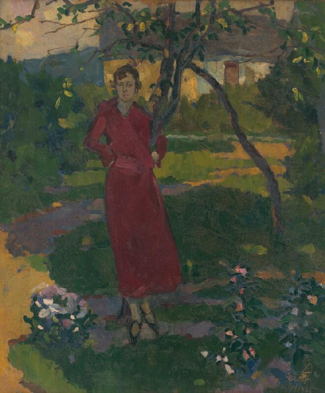Vojtech Erdélyi - Umelcova sestra v záhrade