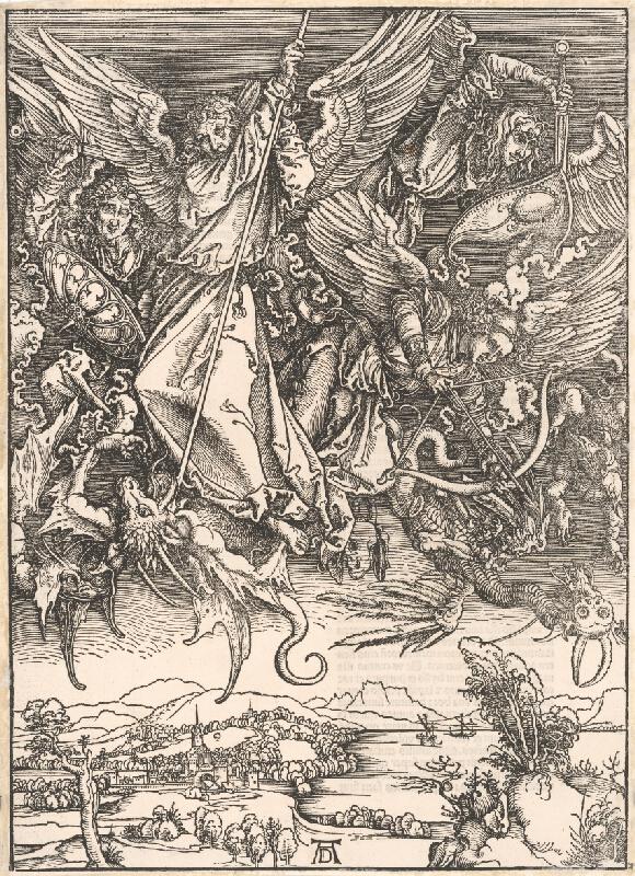 Albrecht Dürer – Boj sv. Michala archanjela s drakom