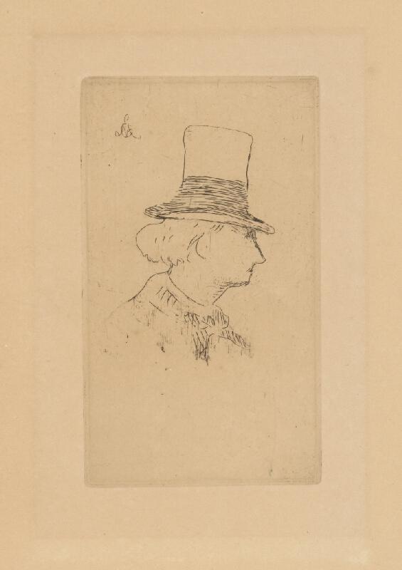 Edouard Manet - Boudelaire z profilu