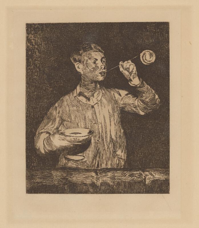 Edouard Manet - Chlapec fúkajúci mydlové bubliny