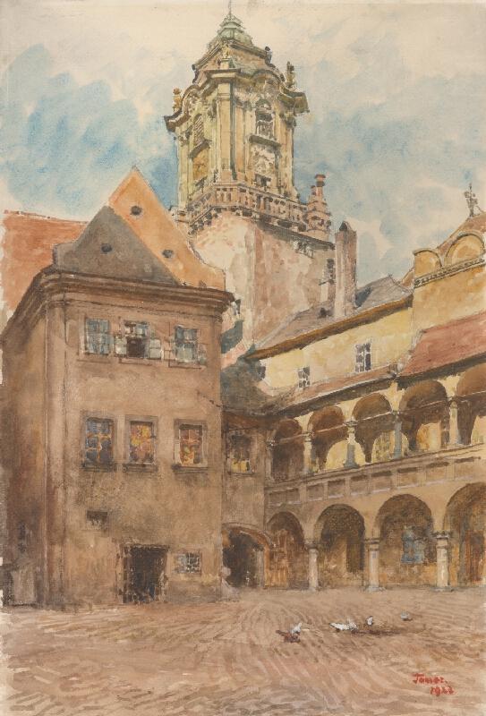 Jindřich Tomec - Nádvorie Starej radnice v Bratislave