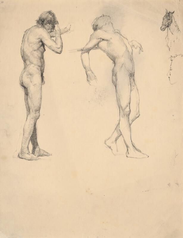 Ján Fadrusz – Štúdie mužských aktov a konskej hlavy