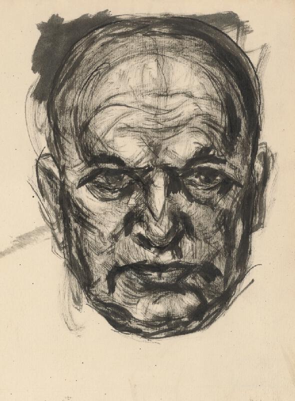 Július Flache - Autoportrét