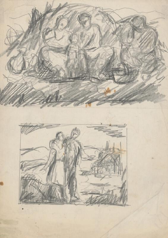 Július Flache - Dva figurálne náčrty